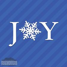 Joy Snowflake Vinyl Decal Sticker Christmas Winter Holidays