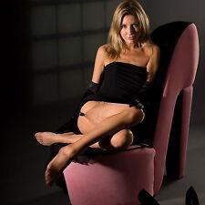 **REDUCED** Italian Designer Contrast Seam/Heel Stockings-Purple/Red/Nude/Black