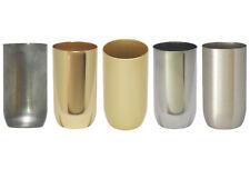 1/5 Stück Fassungshülse E14 Eisen 32x60 roh oder veredelt Zierhülse Metallhülse