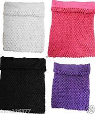 "NEW Girls 12"" 10"" 7""  Lined Crochet Tutu Top tube + Colors U CHOOSE size 2-10yrs"