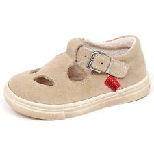 E6392 sandalo bimba beige KICKERS EARLY scarpe suede shoe baby kid girl