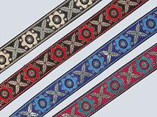 "01 yd Jacquard Trim 1.20"" wide Woven Border Sew  Ribbon Lace T624"