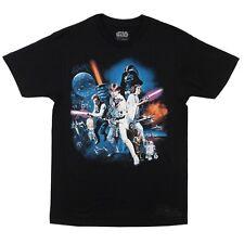 Star Wars Full Cast New Hope Movie Poster Licensed Adult T Shirt