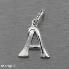 Buchstaben Anhänger - A - Echtschmuck 925 Silber - auf Wunsch mit Kette - NEU