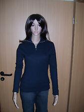 JUNE`S Damen Pullover mit Reißverschluss Langarm Blau Marine M oder L neu