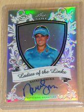 2011 Leaf Metal Golf Natalie Gulbis autograph prismatic parallel LADIES LINKS/50