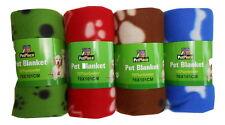 2 x Super Soft Warm Fleece Pet Dog Cat Blanket Large 76cm x 101cm Aussie Seller