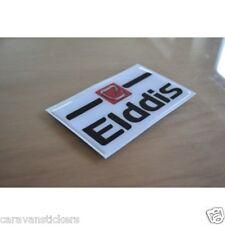 ELDDIS - (RESIN DOMED) - White Caravan Badge Sticker Decal Graphic - SINGLE