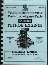 "Bamford ""EG & SG"" Stationary Engine Instruction Book."