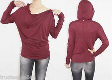 DIESEL T Maelle Off Shoulder Dolman Sleeve Tunic Sweater Hoodie Tank-Top Red