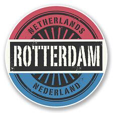 2 x 10cm Rotterdam Netherlands Sticker Car Bike Laptop Travel Luggage Flag #6048