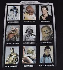 Star Wars Character T-Shirt Yoda, C3Po, Wookie, R2D2, Chewbacca, Darth, Ewock