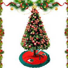 Christmas Tree Skirt Santa Claus Xmas Round Stand Cover Xmas Holiday Party Decor