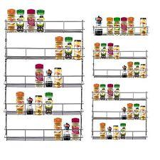 1/3/4 Tier Chrome Spice Herb Rack Holder Kitchen Jar Organiser Wall Storage