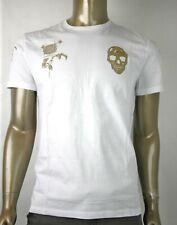 Alexander McQueen Men's White Organic Bullion Motif T-Shirt 463984 QJZ61 0900