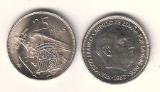 ESPAÑA 25 Pesetas FRANCO 1957 estrella 59 S/C  (año 1959)