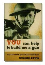 WW2  - CP- Photo affiche britannique -  Un fusil pour la Victoire