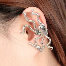 NEW Octopus Ear Wrap Earring Cuff Earrings Stud Clip On Punk Gothic Fashion Gift