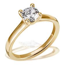 Goldmaid Ring Solitär 4er Stotzen 585 Weiß oder Gelbgold Brillant 1,00 ct. P1/H