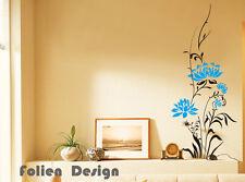 Wandtattoo  Ranke Blumen Blumenranke Wandaufkleber walltattoo wall sticker Wpf30
