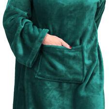 "Catalonia Adult's Wearable Fleece Blanket with Sleeves & Feet Pockets 75""x 53"""