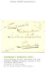NEDERLAND 1831 OMSLAG WILLEMSSTAD - DORDRECHT FRANCO SPEC =A=    ZIE TEKST