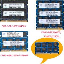 RAM LOT Nanya 8GB 4GB 2GB DDR3/DDR2 12800L 12800S/10600S 6400S Laptop Memory #rf