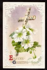 1910 winsch white primrose cross easter postcard