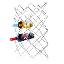 Blomus Vino Portavino, Portabottiglie, per 12 Bottiglie, Filo Nichelato  A 48 cm