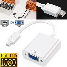 4K Mini DisplayPort MiniDP to HDMI /VGA Male to Female Converter Adapter Full HD