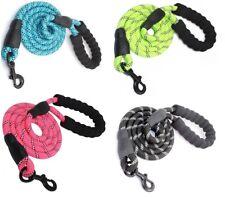 LAISSE CHIEN corde nylon solide poignée rembourrée réfléchissante : 150*1.2 cm
