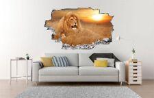 Löwe Safari Sonnenuntergang Wandtattoo Wandsticker Wandaufkleber C0856