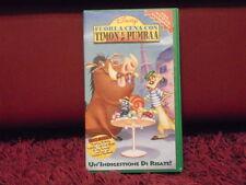 Fuori a cena con Timon e Pumba (1997) VHS VIDEOCASSETTA