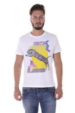 T-shirt Versace Jeans T-Shirt Sweatshirt % Mercury Uomo Bianco B3GQA7D8-3