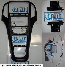 Mascherina kit completo Doppio 2 DIN Opel Astra J Black NERA con comandi volante