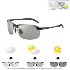 HD Men's Polarized Photochromic Transition Lens Sunglasses Square Frame Glasses