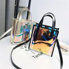 Women Transparent Hologram Shoulder Bag Clear Laser Handbag Holographic PurseNEW