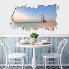3D Beach Sailing Hotel 5 Wall Murals Wall Stickers Decal breakthrough AJ WALL CA