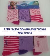 3 Paia di Calze Calzini Originali Disney Frozen Pacco Assortito Tutte le Taglie