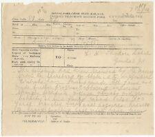 India 1916  Gondal Porbandar Railway Telegram Viceroy to Raja Gondal 7 pages