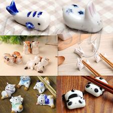 Cute Ceramic Animals Chopsticks Stand Rest Rack Porcelain Spoon Fork Holder