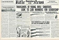 1952 Remington Rifle News 2 Page Print Ad Model 722-222 & 510 511 512 .22