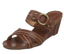 Frye Womens Lynn Slide Slip On Open Toe Cross Strap Wedge Sandals Heels Shoes