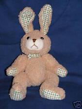 "10"" Applause Tan Bunny Rabbit Timothy #53485 Plaid Ears"