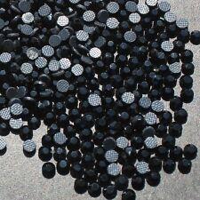 JET BLACK  - TSS Bulk Wholesale Hotfix Ironon Rhinestone Flatback Premium Qlty