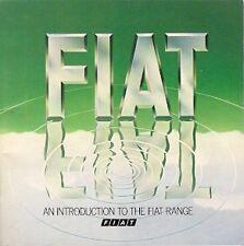 Fiat 1980 UK Market Small Format Sales Brochure 126 127 128 X1/9 Strada 131 132