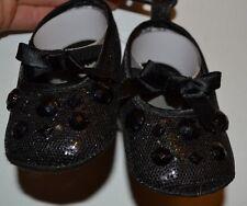 Slip on Punk Rocker Black Gem Jewel Slippers Shoes Glam Baby Booties Ballerina