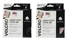 VELCRO® Brand Heavy Duty Stick On Tape 50mm x 2.5m - White & Black