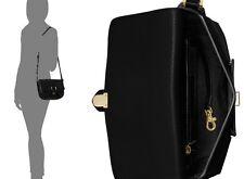 NWT Michael Kors Romy Medium Leather Messenger Bag~Black Retail $298+tax~Perfect