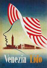 TV64 Vintage 1940's A3 Venezia Lido Venice Italy Italian Travel Poster Re-Print